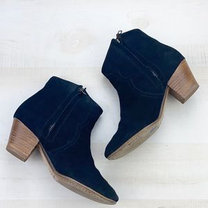 Isabel Marant Suede Dicker Boots in Black